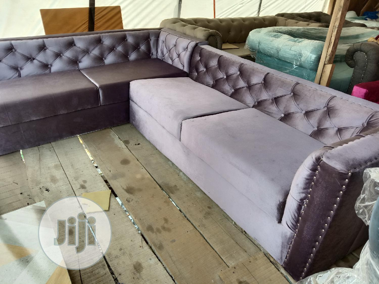 Chesterfield L Shaped Chair | Furniture for sale in Ajah, Lagos State, Nigeria