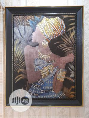 African Woman Art Painting With Metallic Stone Finishes   Arts & Crafts for sale in Abuja (FCT) State, Wuse