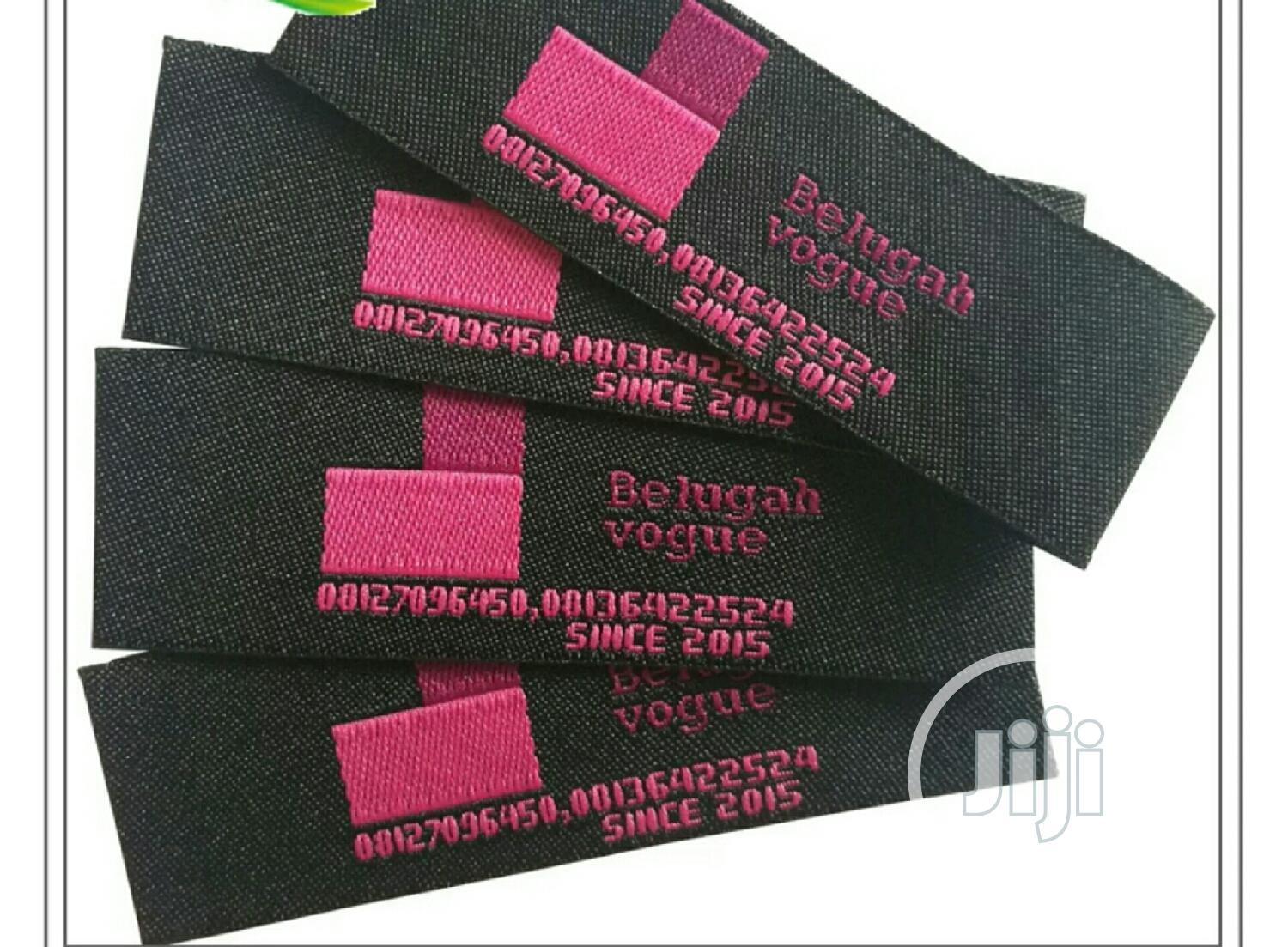 1000 Pcs of Customized Woven Labels for Bag,Clothing Shoes | Clothing Accessories for sale in Ogbomosho North, Oyo State, Nigeria