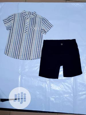 2-Piece Turkey Cotton Shirt and Short | Children's Clothing for sale in Lagos State, Ajah