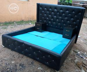 6by6 Feet Bed With 2 Bedside Drawers   Furniture for sale in Lagos State, Ajah
