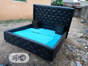 6by6 Feet Padded Bed With 2 Bedside Drawers   Furniture for sale in Lagos State, Ikeja