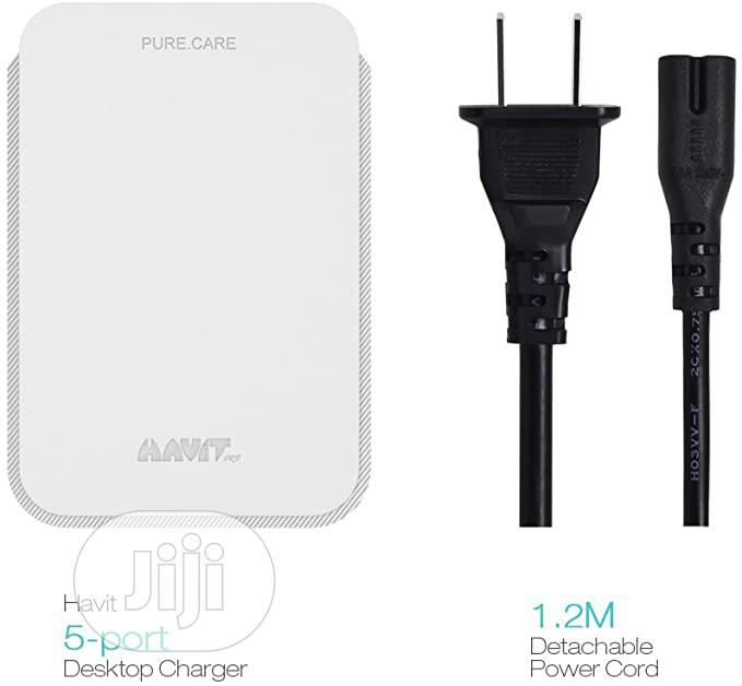 HAVIT Powerport 40W 5-Port Fast Charging USB Charger Hub Wit   Computer Accessories  for sale in Ikeja, Lagos State, Nigeria