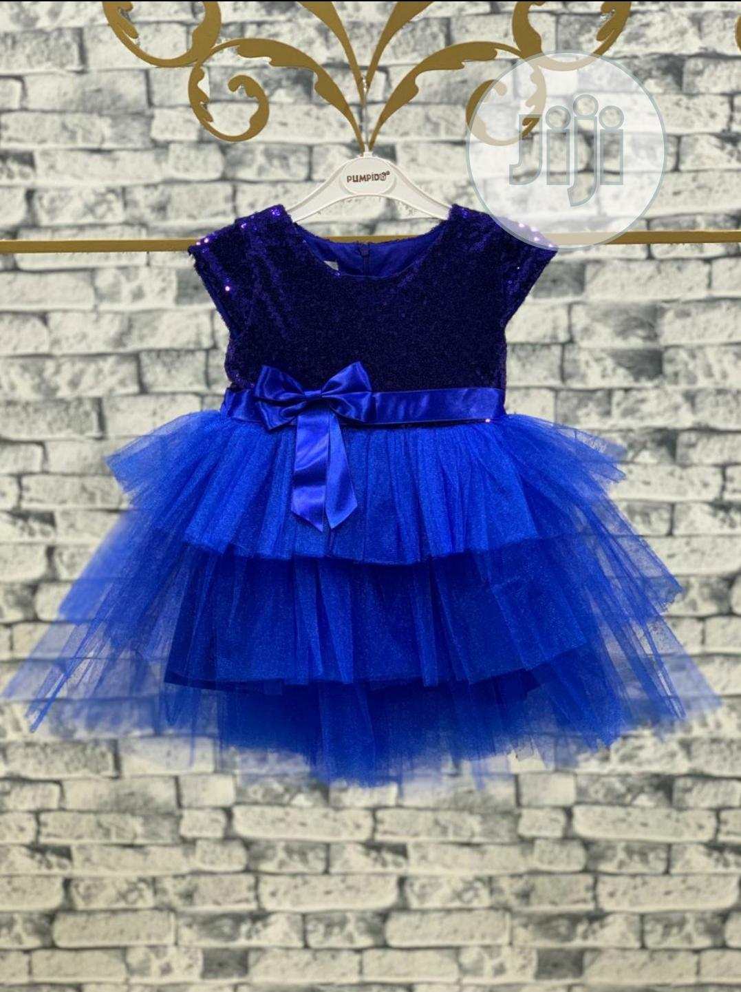 Archive: Blue Sequence Dress For Girls