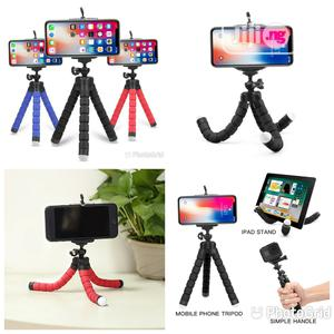 Flexible Sponge Octopus Tripod Stand With Phone Holder   Accessories for Mobile Phones & Tablets for sale in Lagos State, Lagos Island (Eko)