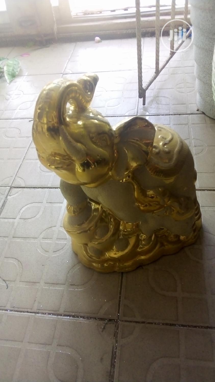 Archive: Unique Gold Colour Elephant Horse Decor