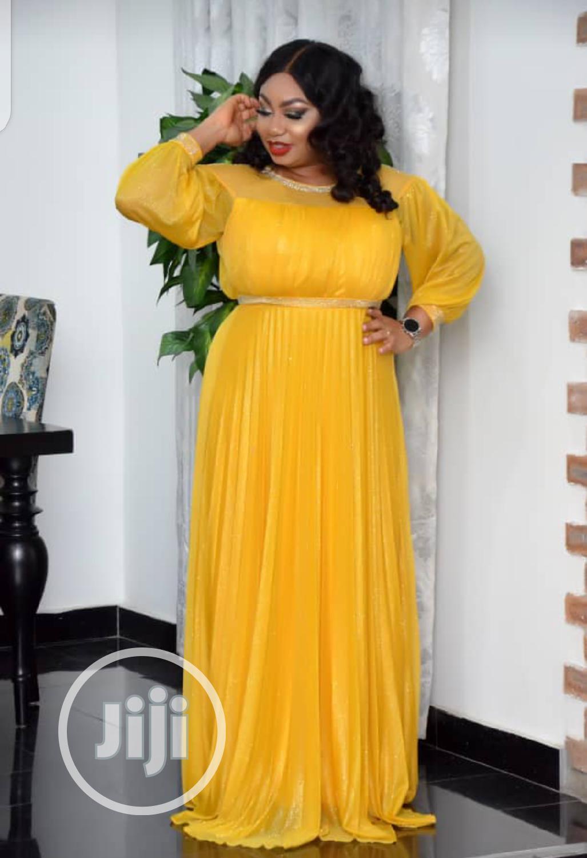 New Female Quality Yellow Long Dress