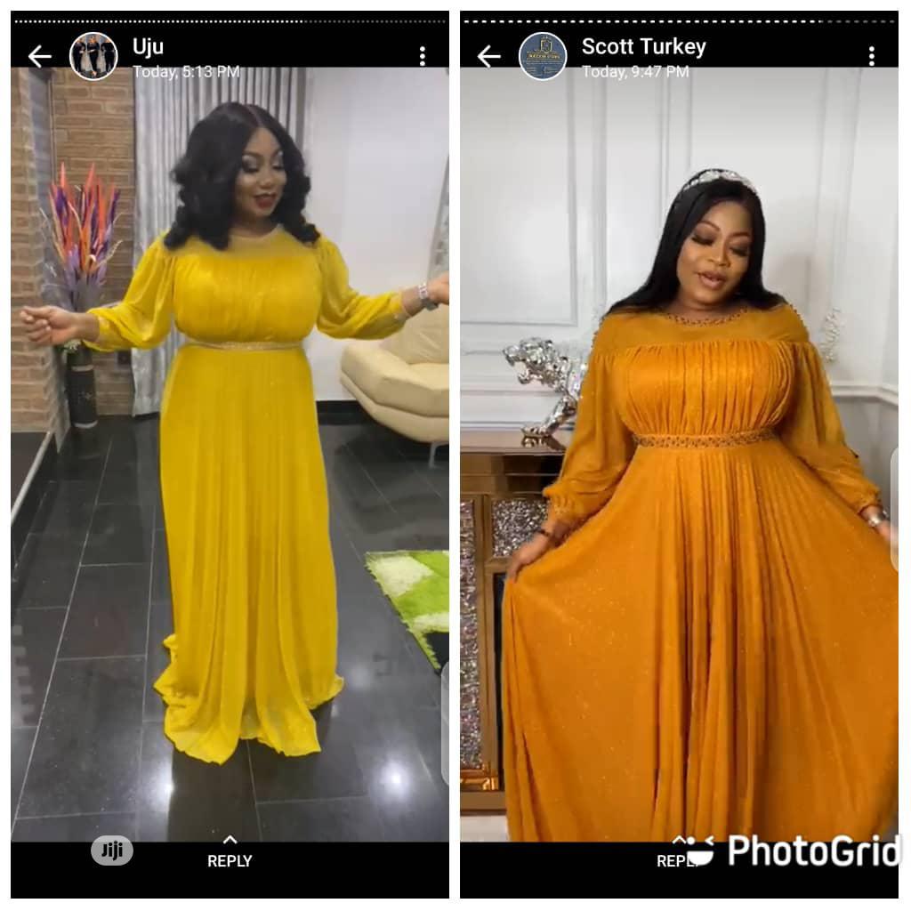New Female Quality Yellow Long Dress | Clothing for sale in Lagos Island (Eko), Lagos State, Nigeria