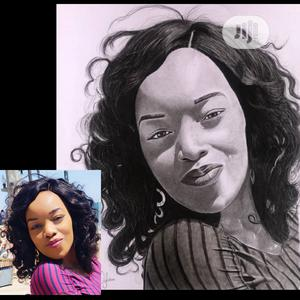 Art Portrait Pencil Drawing Colored Framed | Arts & Crafts for sale in Abuja (FCT) State, Gwarinpa