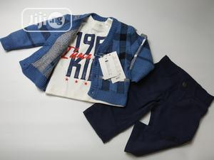 3-In-1 Set for Babies With Sweater Jacket, Jean and Tshirt | Children's Clothing for sale in Ondo State, Akure