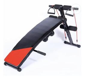Sit-Up Bench With Rope Dumbbell | Sports Equipment for sale in Lagos State, Surulere