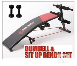 Sit-Up Bench With Dumbbell Rope | Sports Equipment for sale in Lagos State, Surulere