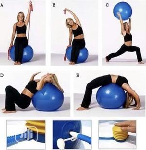 Gym Exercise Ball With Pump   Sports Equipment for sale in Lagos State, Surulere