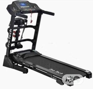 2.0hp Protech Treadmill With Massager Dumbbell   Sports Equipment for sale in Lagos State, Surulere