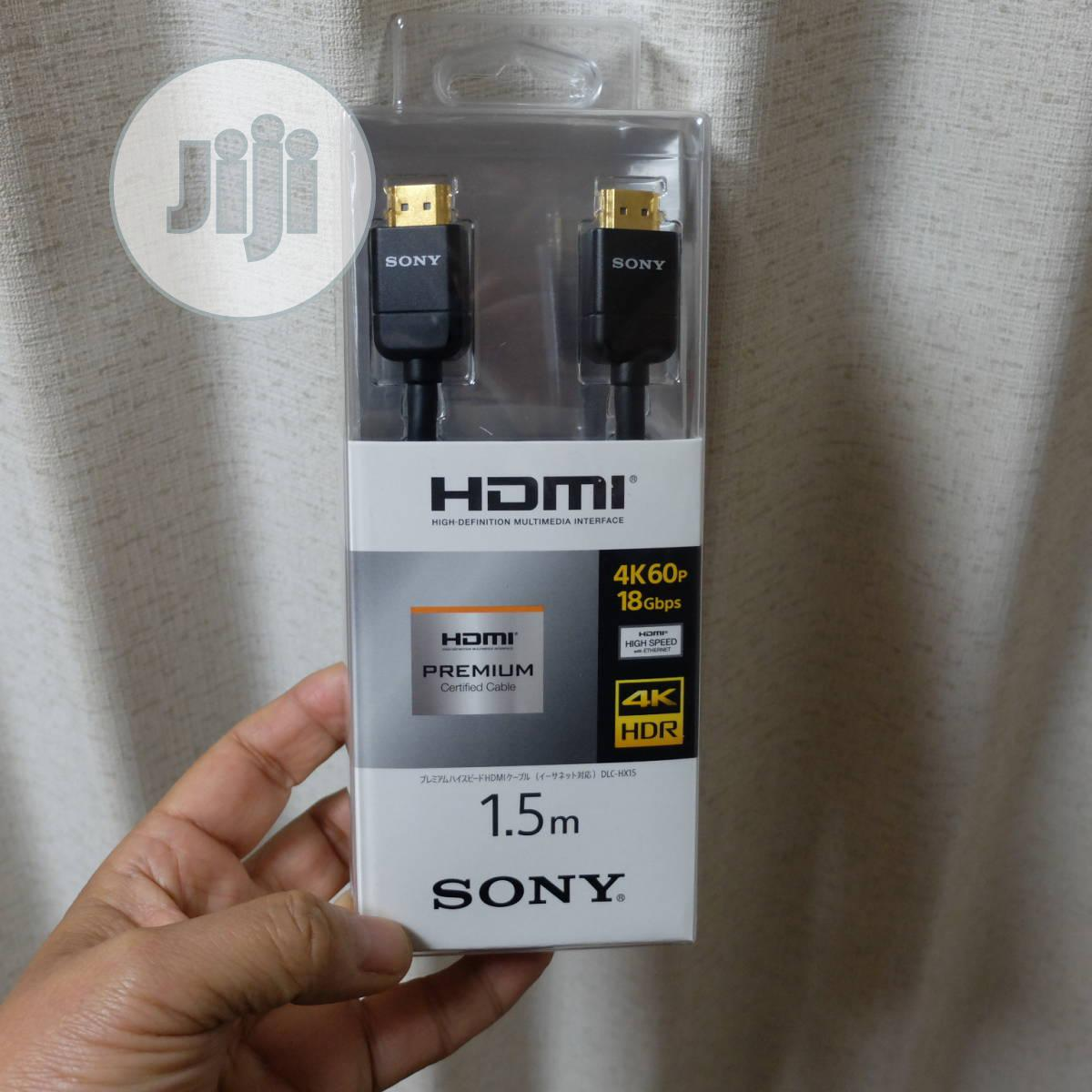 Sony DLC-HE20S Slim High Speed HDMI Cable, 2 M (6.56-feet) | Accessories & Supplies for Electronics for sale in Ikeja, Lagos State, Nigeria