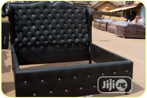 6 by 6 Button Leather Bed Frame With 2 Bed Side   Furniture for sale in Lagos State, Agege