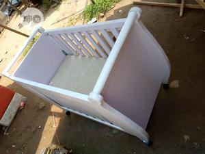 White Baby Cot With Foam For Sale | Children's Furniture for sale in Lagos State, Agege