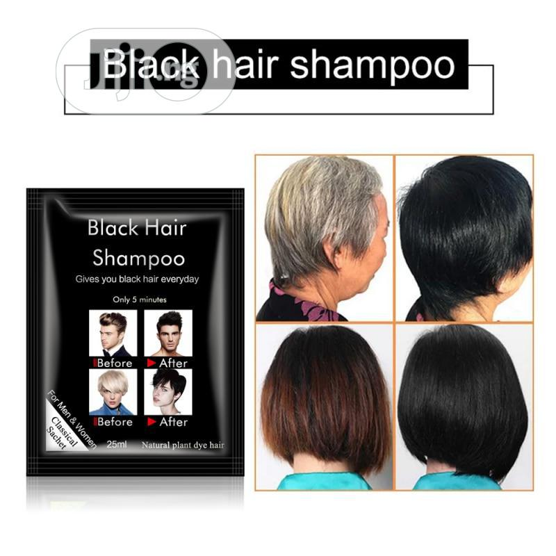 Black Hair Shampoo (10 Satchets In A Pack) | Hair Beauty for sale in Utako, Abuja (FCT) State, Nigeria