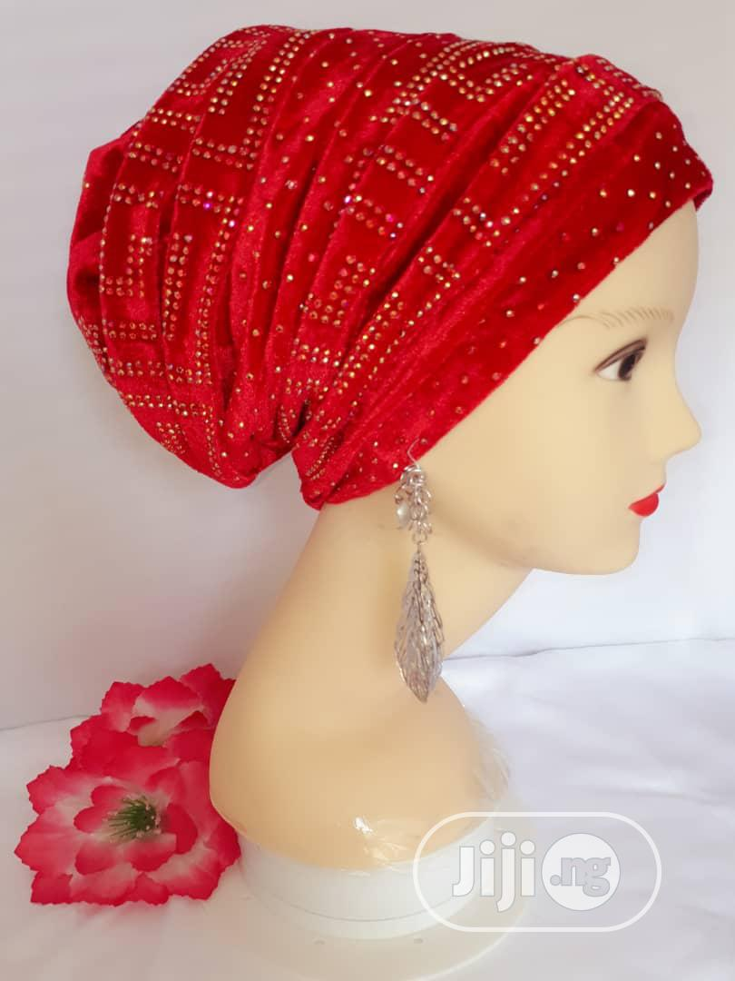 Red Turban Cap