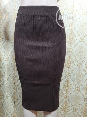 Stretchabe Three Quarter Skirt- Brown   Clothing for sale in Lagos State, Surulere