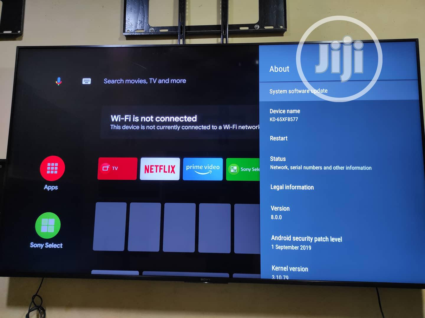 """Archive: Sony 65"""" Android Tv 4K UHD HDR Kd-65xf8577"""