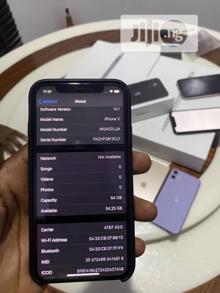Apple iPhone X 64 GB Black | Mobile Phones for sale in Amuwo-Odofin, Lagos State, Nigeria