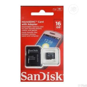 Sandisk 16GB Micro SDHC Memory Card + Adapter   Accessories for Mobile Phones & Tablets for sale in Oyo State, Ibadan