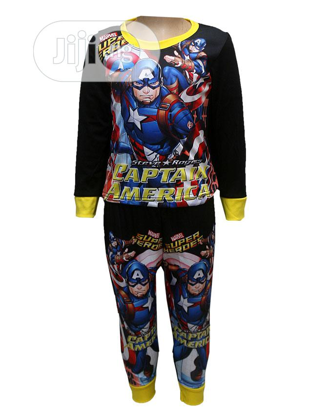 Boys Character Design Two Psc With Long Sleeve Top | Children's Clothing for sale in Ojota, Lagos State, Nigeria
