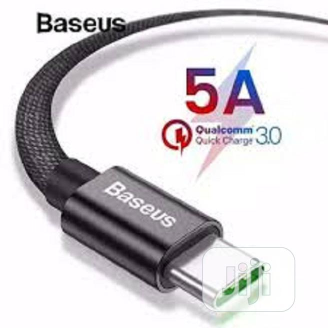 Baseus Xiaobai Series Fast Charging Cable Type C 100w 20v/5a | Accessories for Mobile Phones & Tablets for sale in Ikeja, Lagos State, Nigeria