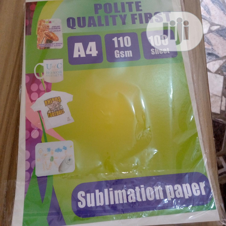 Archive: A4 Sublimation Paper