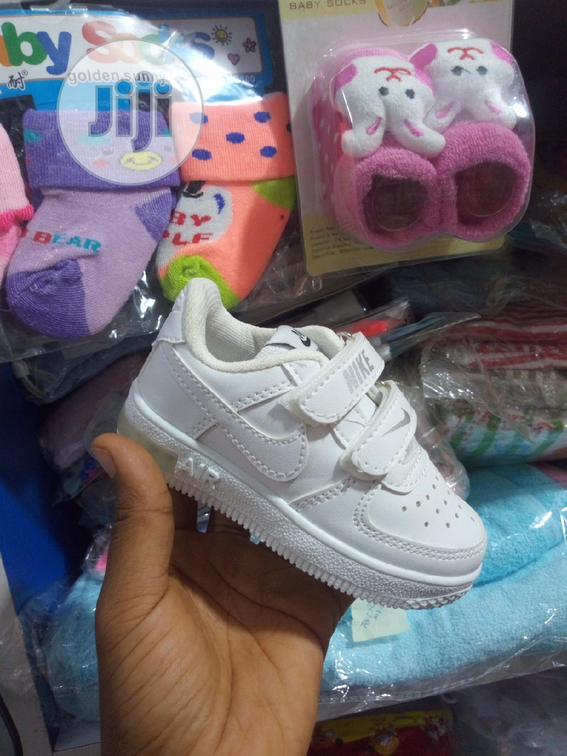 Turkey White Canvas With LED | Children's Shoes for sale in Kubwa, Abuja (FCT) State, Nigeria