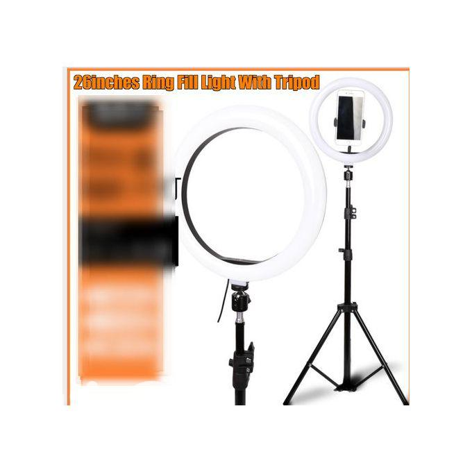26inch Led Ring Light Whitening Photography Phone Holder