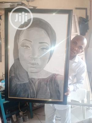 Art Portrait Pencil Drawing Colorful Frame | Arts & Crafts for sale in Abuja (FCT) State, Gwarinpa