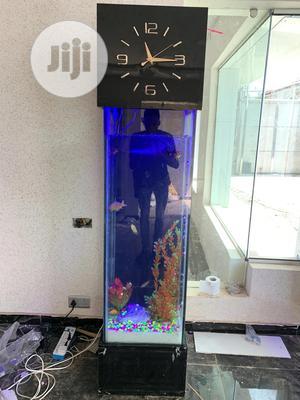 Standing Aquarium With Clock | Fish for sale in Lagos State, Lekki