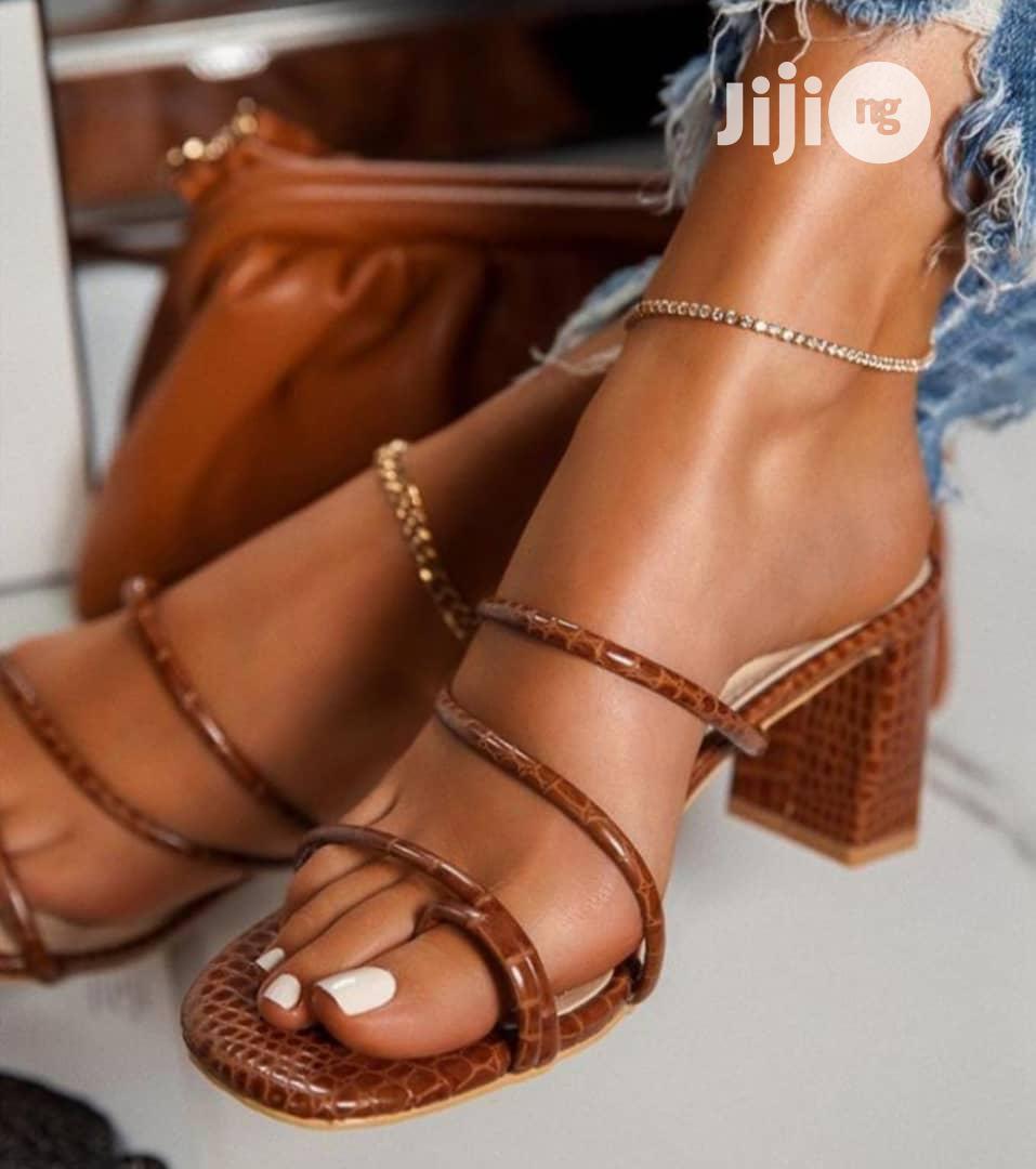 Lilian Qulity Block Heel Sandal | Shoes for sale in Lekki, Lagos State, Nigeria