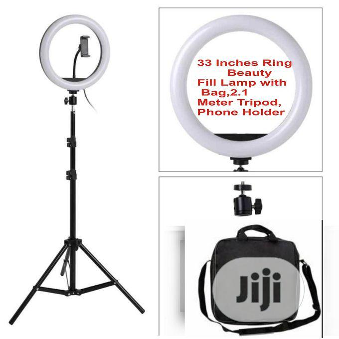 Light Dimmable 33 Inches LED Ring For Phones Youtube Makeup