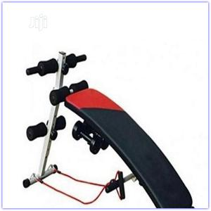 Sit Up Bench With Gym Glove and Dumbbell | Sports Equipment for sale in Lagos State, Surulere
