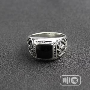 Silver Ring With Black On The Top For Men | Jewelry for sale in Lagos State, Amuwo-Odofin