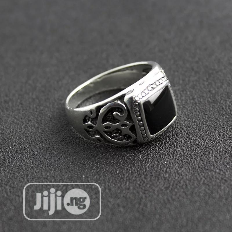 Archive: Silver Ring With Black On The Top For Men