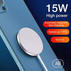 Green Apple 15W Magnetic Wireless Charger Apple iPhone 12   Accessories for Mobile Phones & Tablets for sale in Lagos State, Ikeja