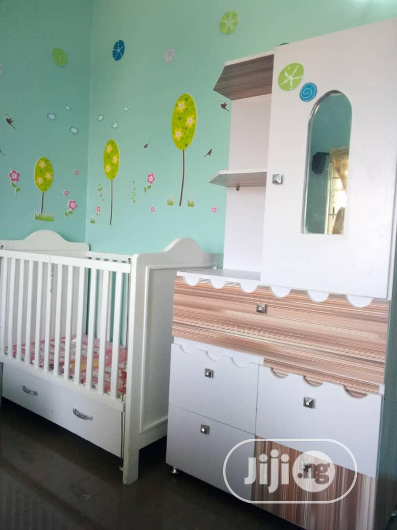 Classic Baby Wardrobe With Baby Bed