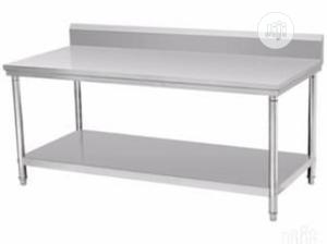 Stainless Steel Work Table With Back | Restaurant & Catering Equipment for sale in Lagos State, Ojo