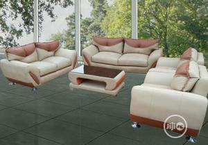 Set of 7seaters Sofa Chairs With Centre Table. Leather Couch | Furniture for sale in Lagos State, Oshodi