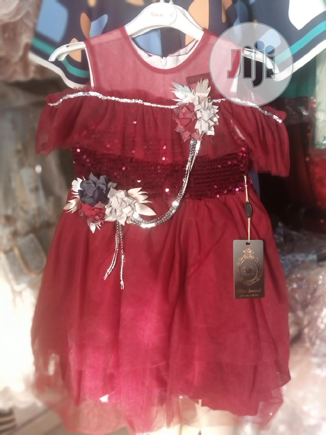 Wine Red Princess Gown