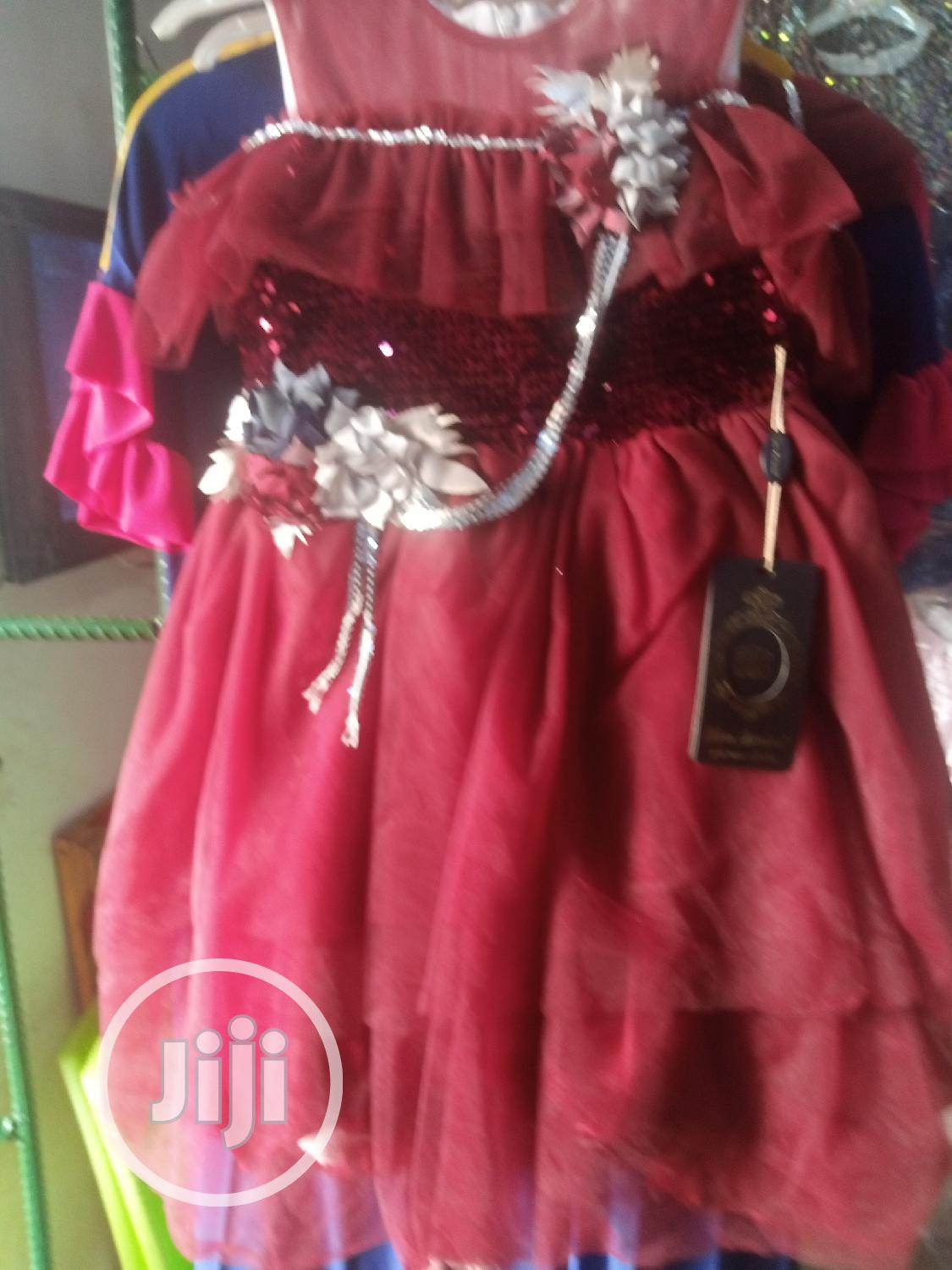 Wine Red Princess Gown | Children's Clothing for sale in Ikeja, Lagos State, Nigeria