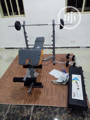 Weight Bench With 50kg Dumbell | Sports Equipment for sale in Lagos State, Ejigbo