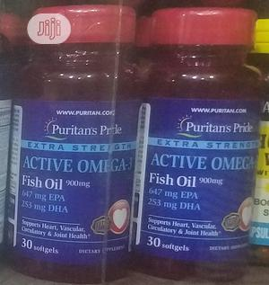 Puritans Pride Active OMEGA Fish Oil Epa/Dha | Vitamins & Supplements for sale in Lagos State, Ojo