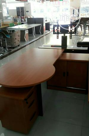 1.6m Wooden Office Reception Desk With Mobile Number | Furniture for sale in Lagos State, Ojo
