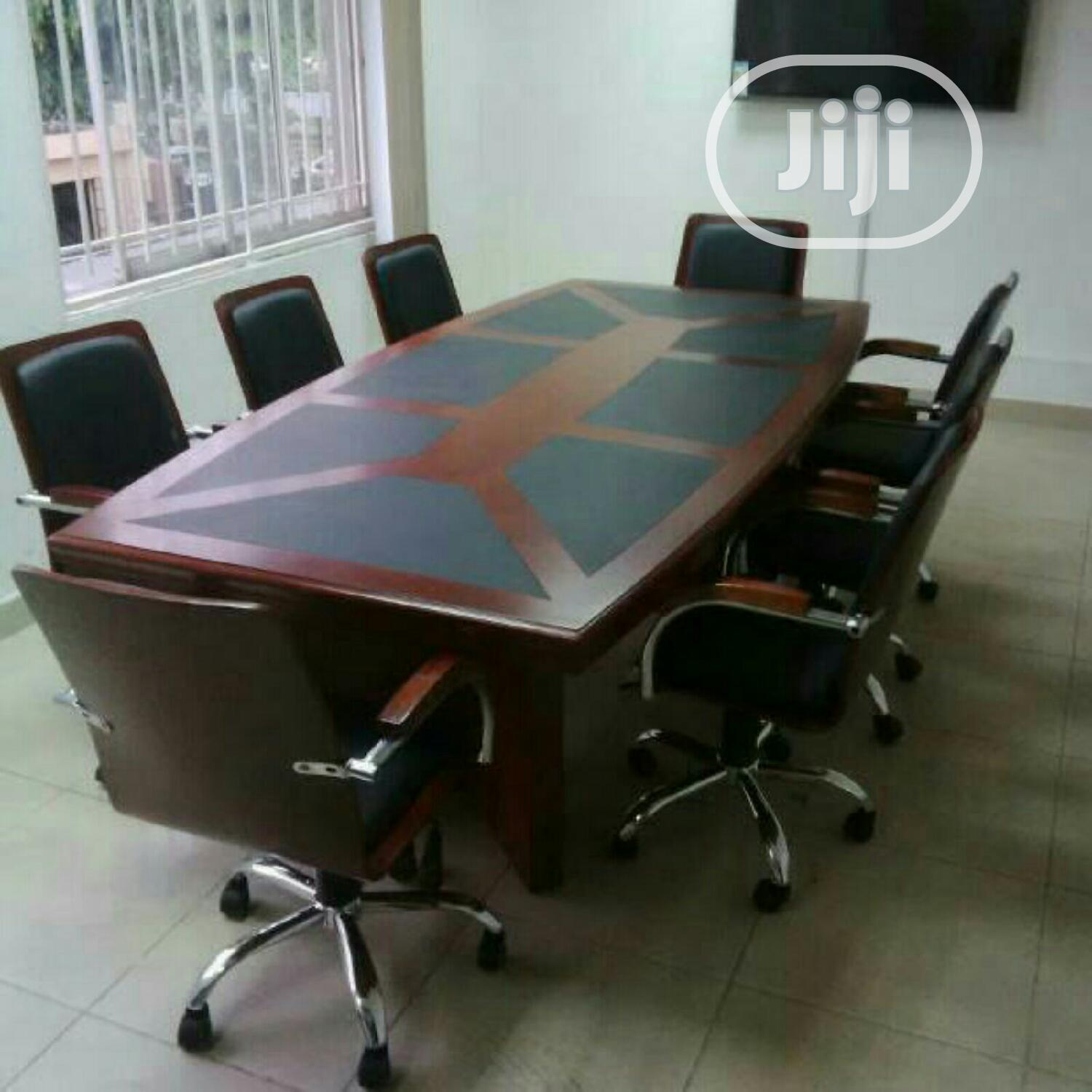 2.4m by 8 Seater Conference Table With Pad