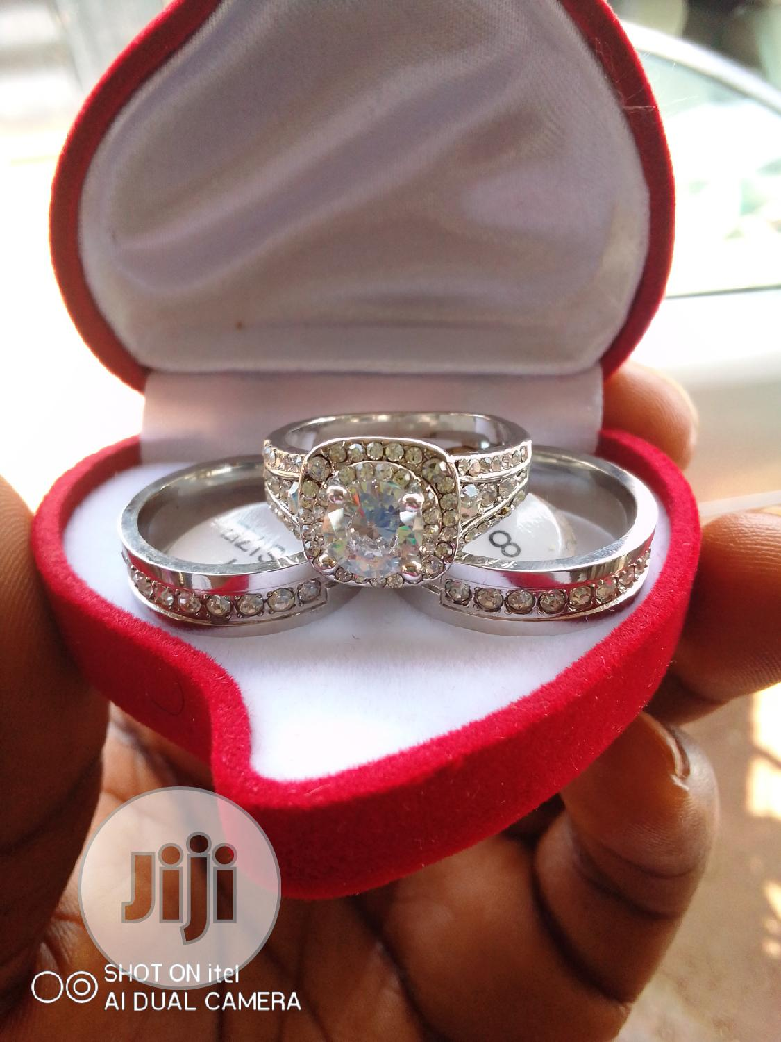 White Gold and Titanium Wedding Ring Set | Wedding Wear & Accessories for sale in Mpape, Abuja (FCT) State, Nigeria